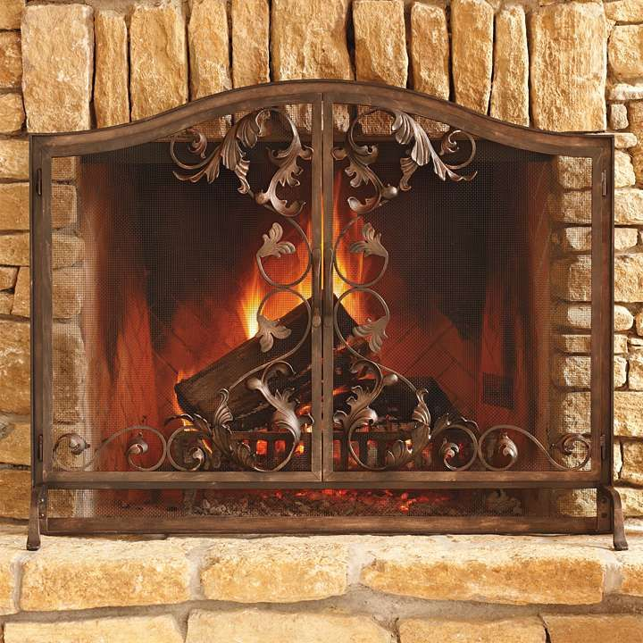 Frontgate Home Decor: Toscana Fireplace Screen - Frontgate