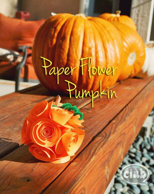 DIY Paper Flower Pumpkin Fall Decor Fall Decor Pinterest