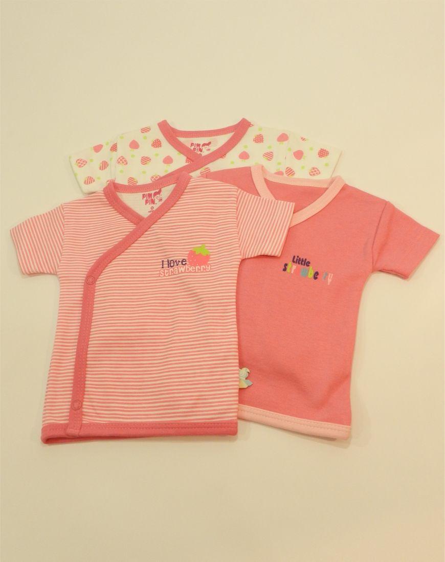 bcb409bb6 Camiseta Cruzada Strawberry 3 Piezas