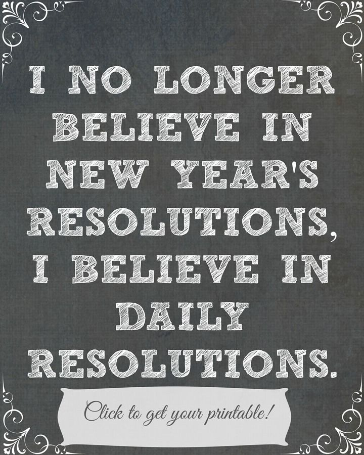 New Year's Resolutions Daily Printable - Domestically Speaking