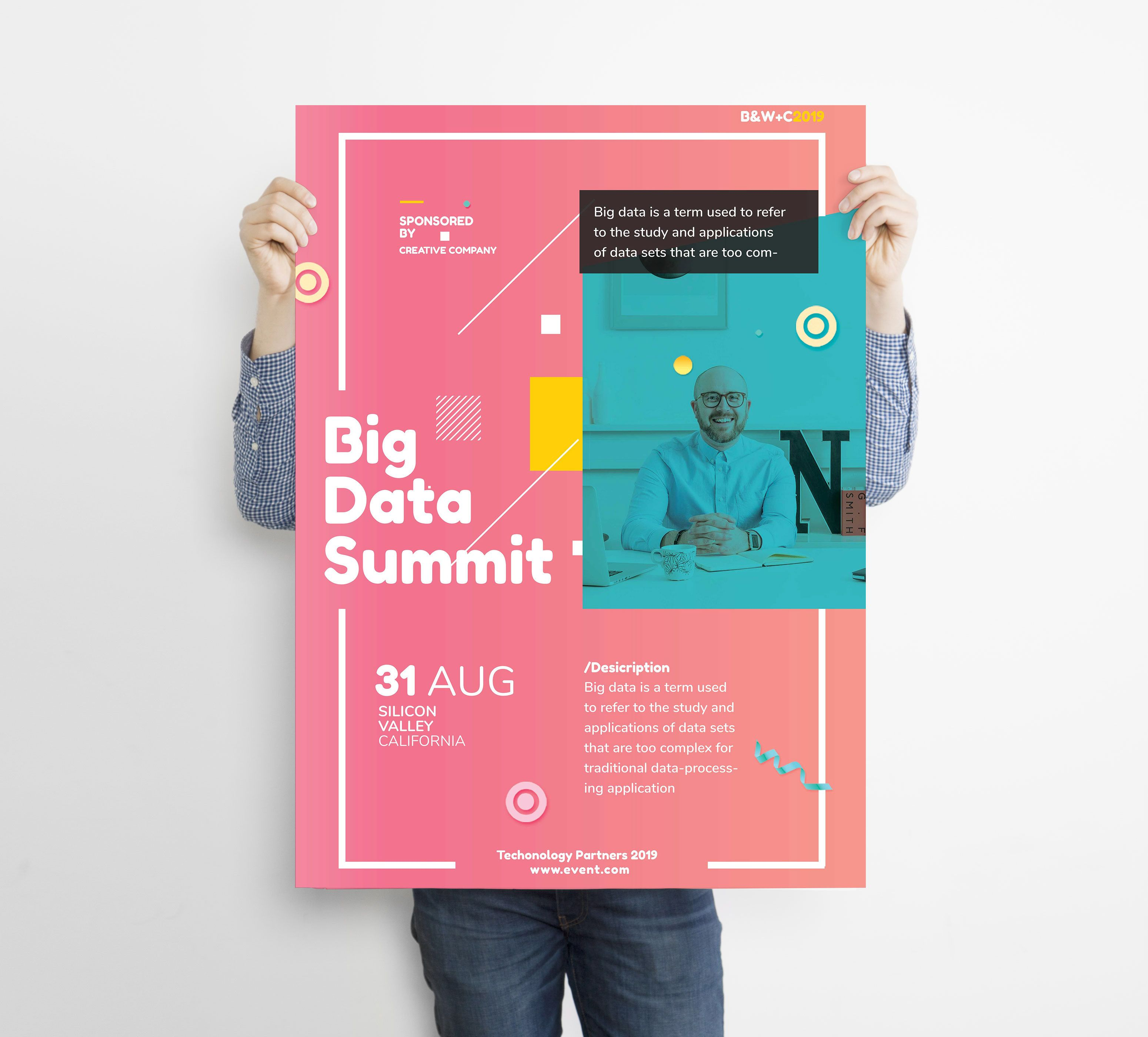 Check Out My Behance Project Big Data Conference Poster Flyer