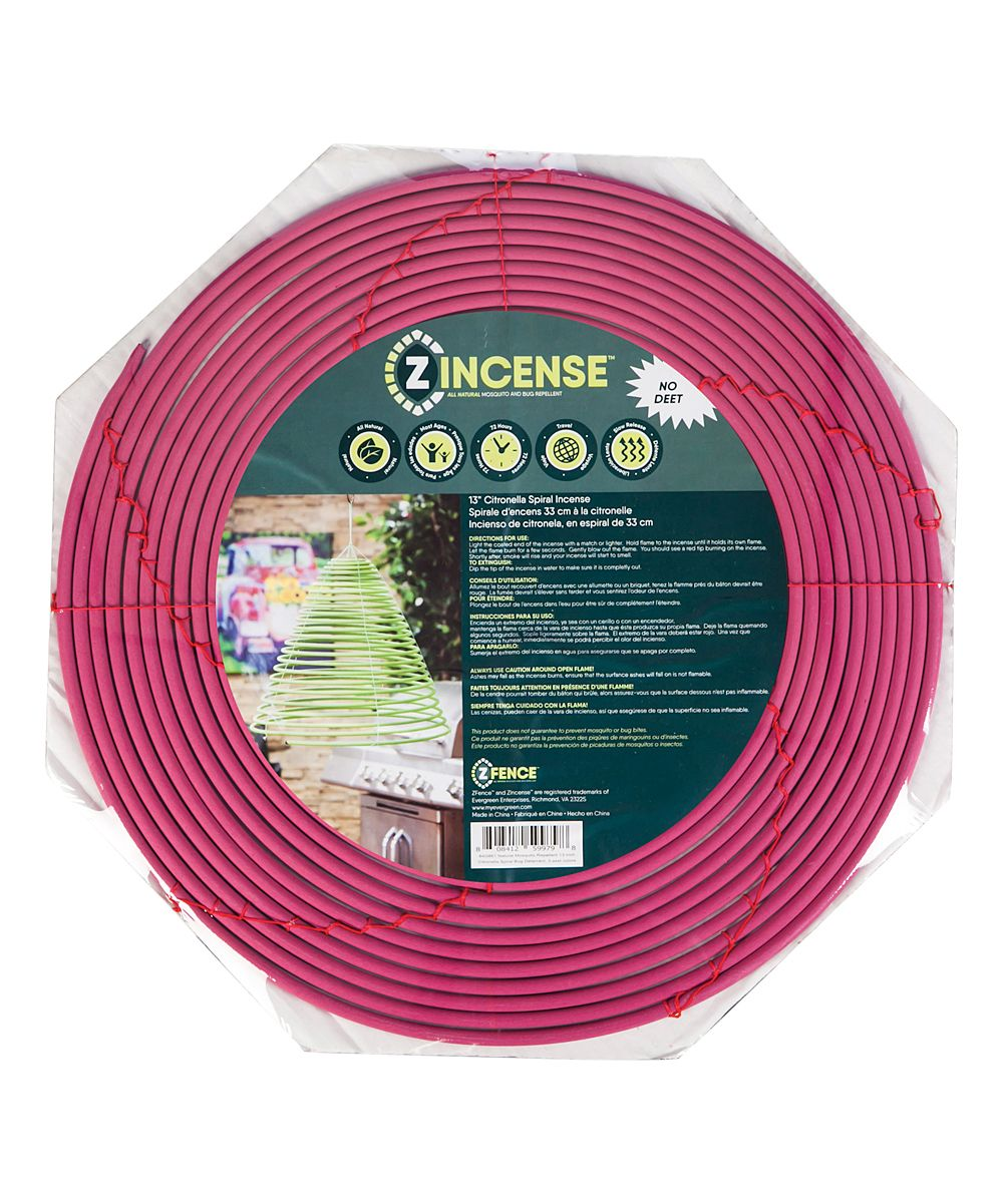 Pink 24-in  Citronella Mosquito & Bug Repellent Spiral