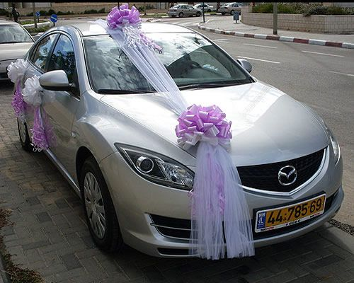 Wedding Car Decorations And Inside The Car Bridal Car Cabin