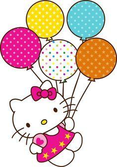 Hello Kitty Image With Balloons Hello Kitty Birthday Hello