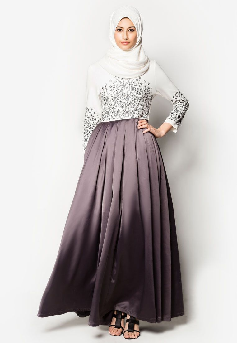Casual dresses to wear to a wedding  Buy Zalia Embroidered Maxi Dress Online  ZALORA Malaysia  Wear