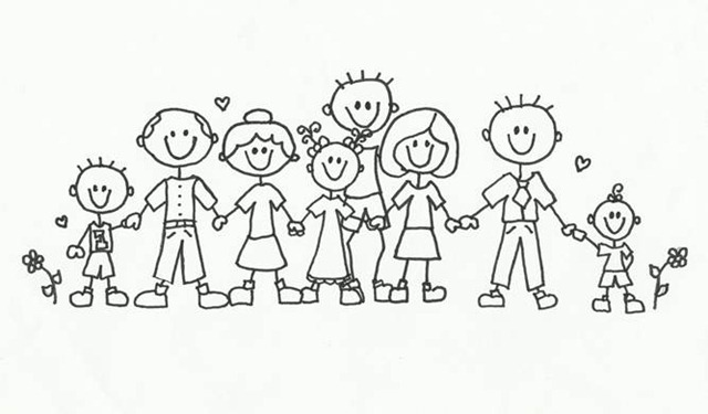 39+ Big family clipart black and white info