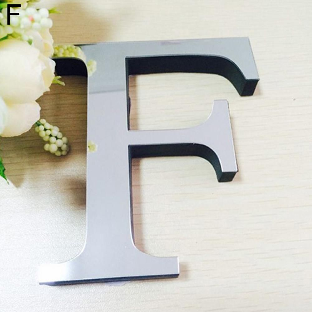 Photo of Fashion English Letters Alphabet DIY Art Mural Home Decor Mirror Wall Stickers – as the picture au