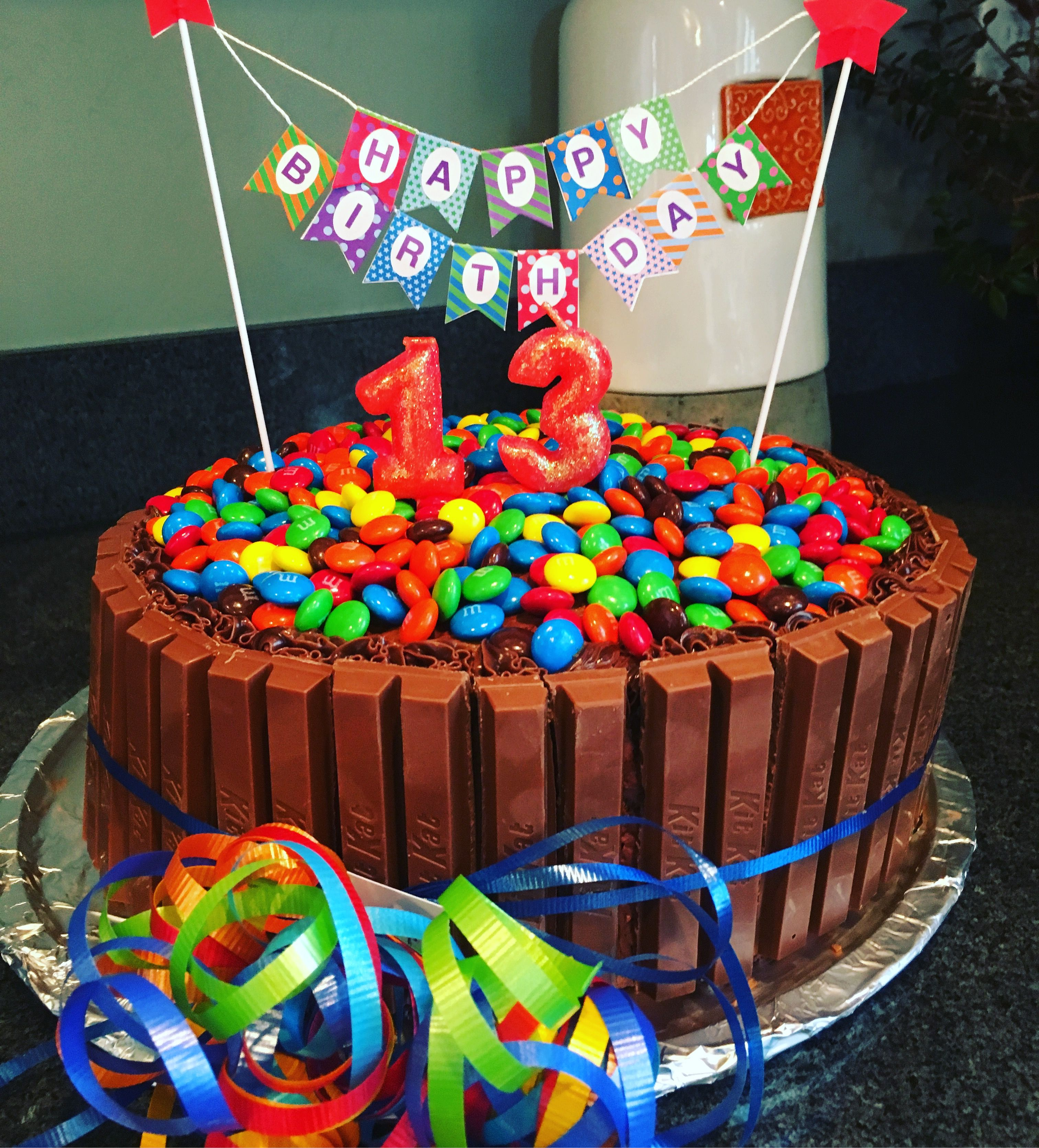 Candy Cake 13th Birthday Kitkat Cake Happy Birthday