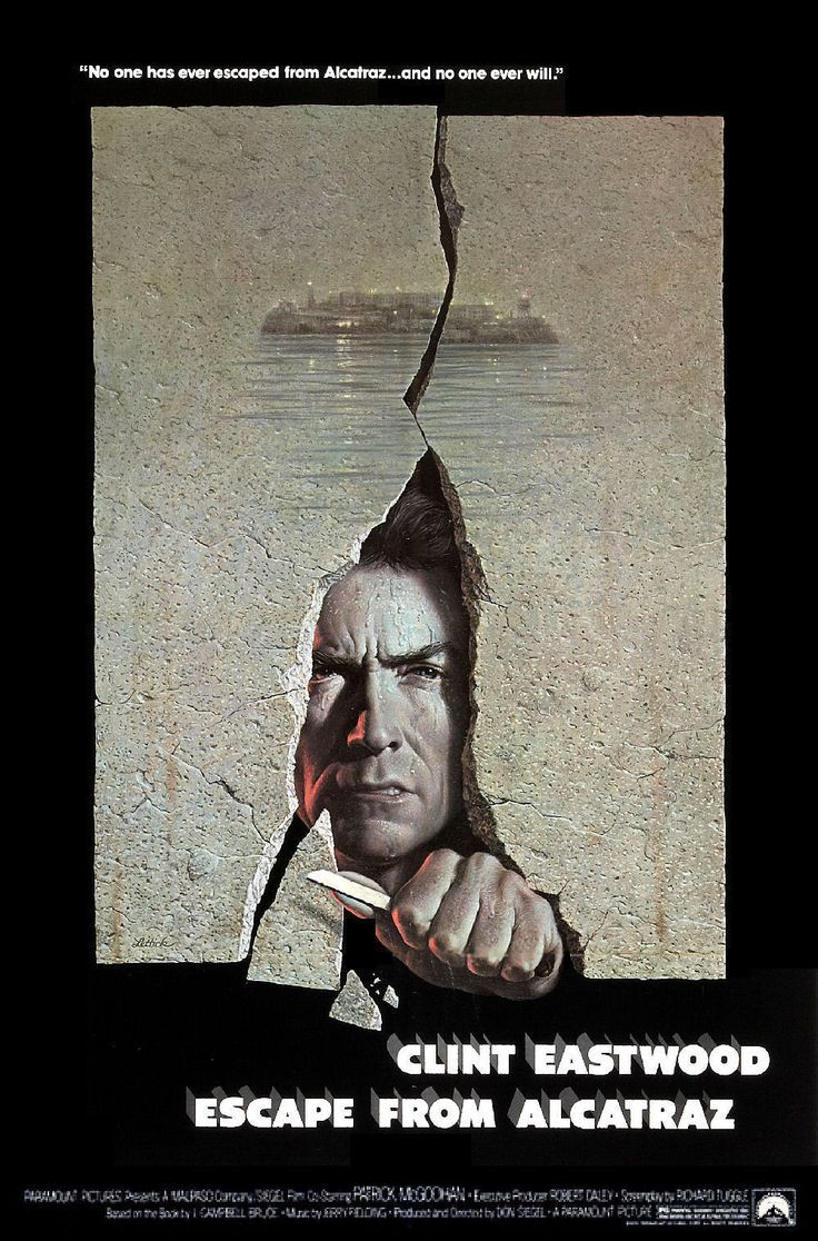 Escape From Alcatraz Movie Poster Google Search Eastwood