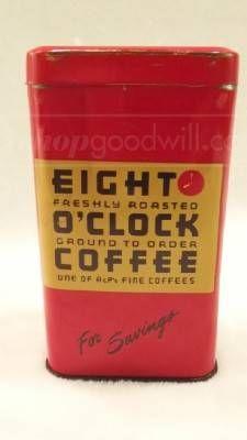 Eight O'Clock Coffee Tin Bank