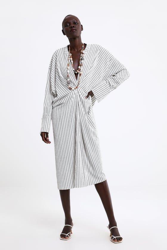 Zara Femme Robe Imprimee Rayures Vozeli Com