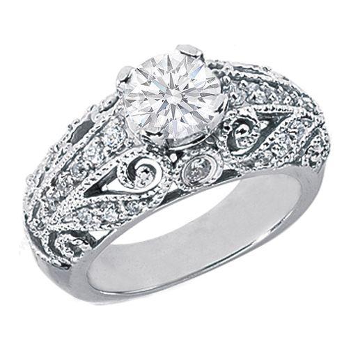 Engagement Ring Vintage Diamond Heirloom Engagement ring Wedding