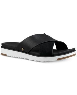 75c738ca2fb5 Ugg Women s Kari Slide Flat Sandals - Blue 9M in 2019