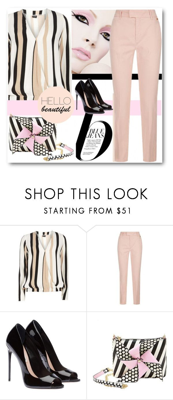 """""""STRIPES"""" by purplerose27 ❤ liked on Polyvore featuring Dorothy Perkins, Nico, Escada Sport and Betsey Johnson"""
