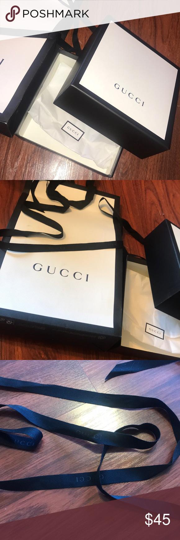 e54e2f1b3f98 Gucci Gift Bag/Box Set Selling a Gucci Shopping Bag, Gucci Box, Gucci