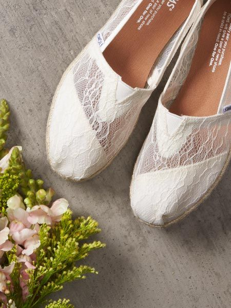 772643940ff Shop TOMS Wedding Collection for the bride and groom. Flats
