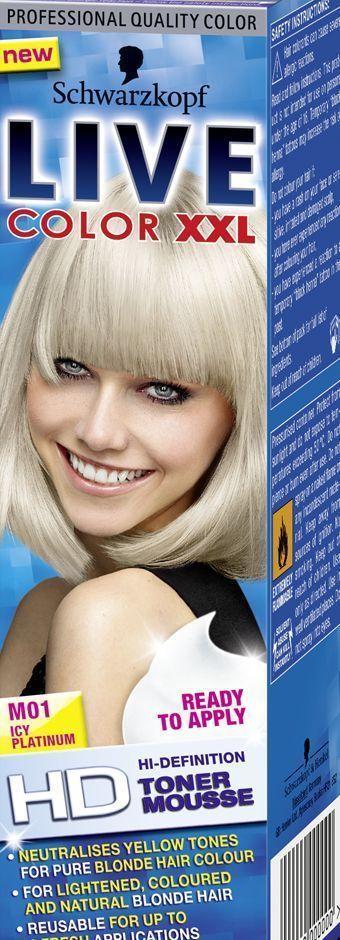 Schwarzkopf Live Color Xxl Toner Mousse Icy Platinum M01 Ebay