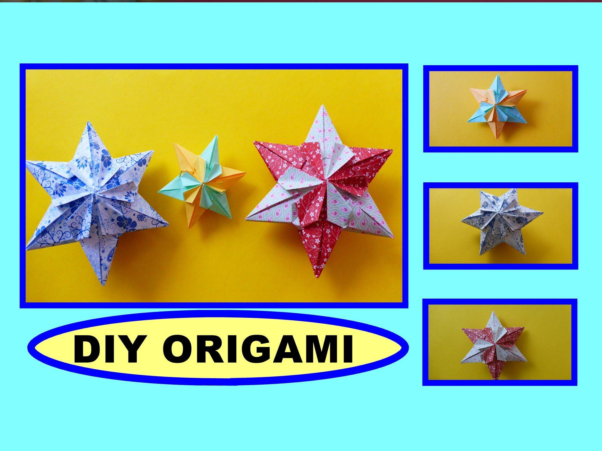 diy origami paper 3d star gift ideas stern geschenke