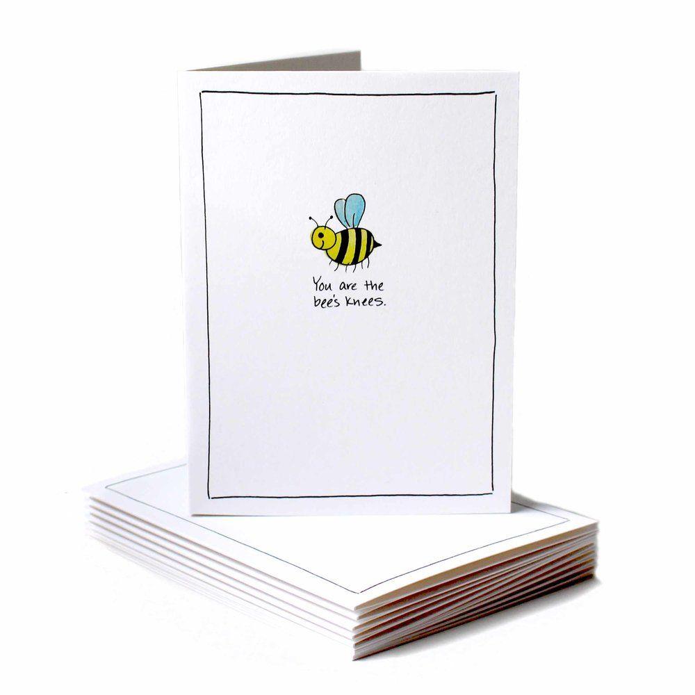 Bees Knees Encouragement Greeting Card Mailing Envelopes