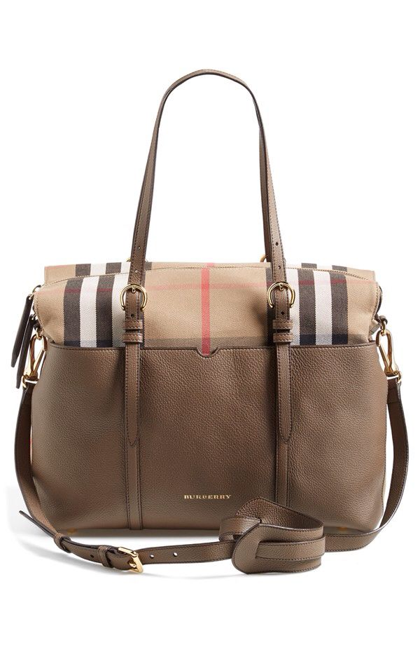 c8323882cfd1 Burberry Burberry Classic Check   Leather Diaper Bag available at  Nordstrom