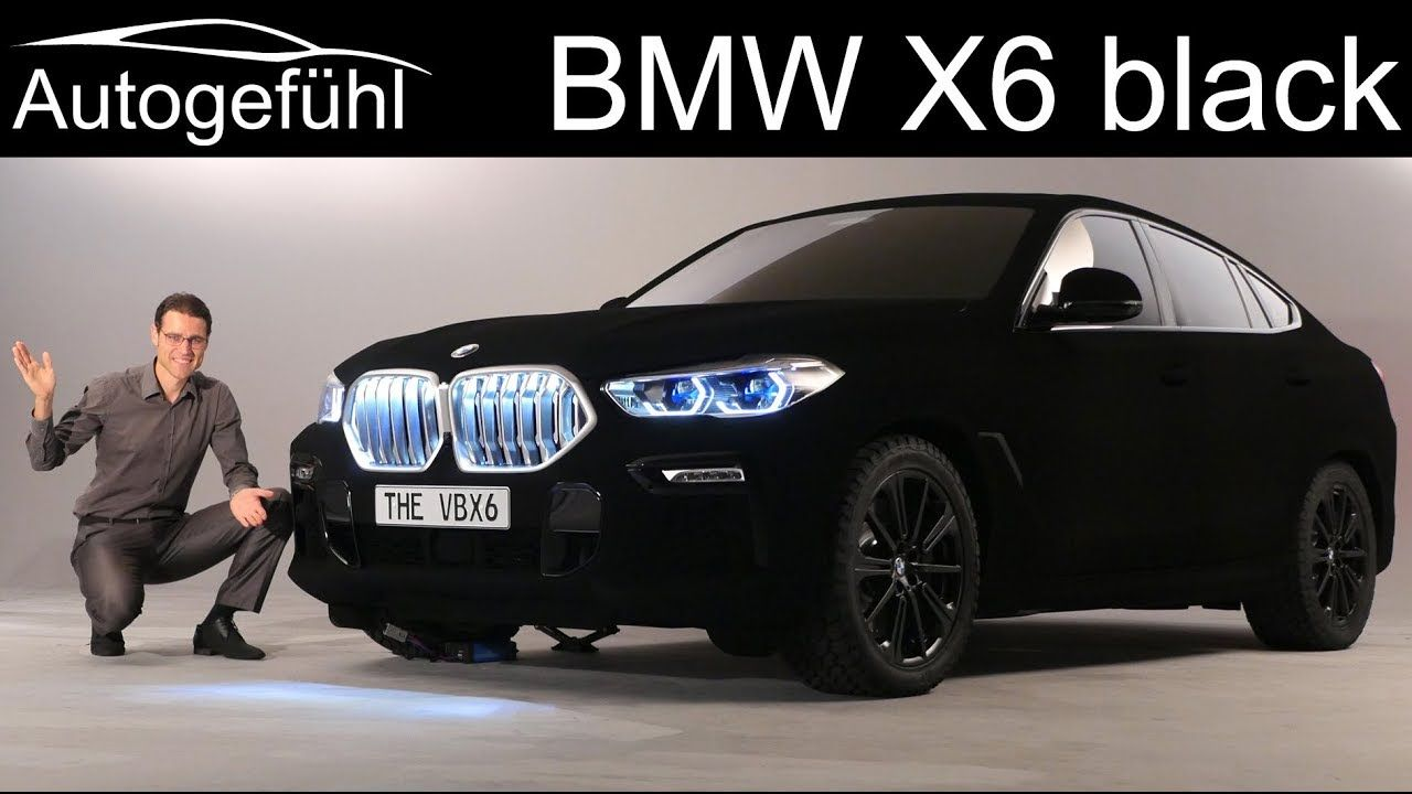 All New Bmw X6 Exterior Preview G06 2020 With Vantablack Special Paint Bmw X6 Bmw Black Bmw X6 Black