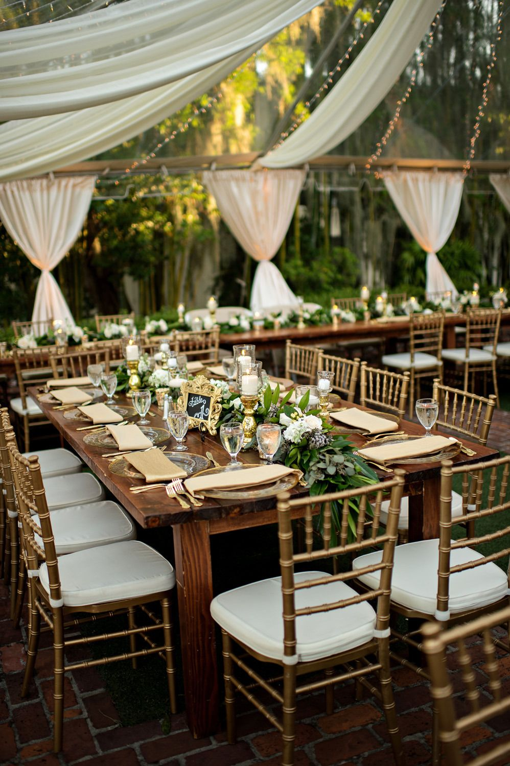 Garden wedding reception decor  Luxury Garden Wedding in Winter Park Florida at Casa Feliz  Best