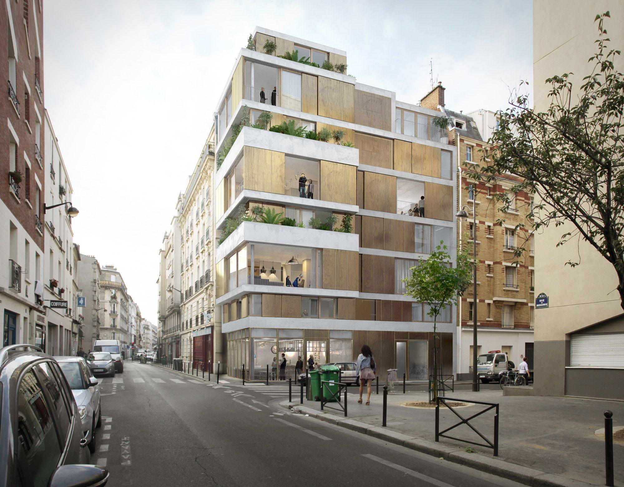 raum 10 logements pour la rivp paris archi pinterest logement paris et architecture. Black Bedroom Furniture Sets. Home Design Ideas