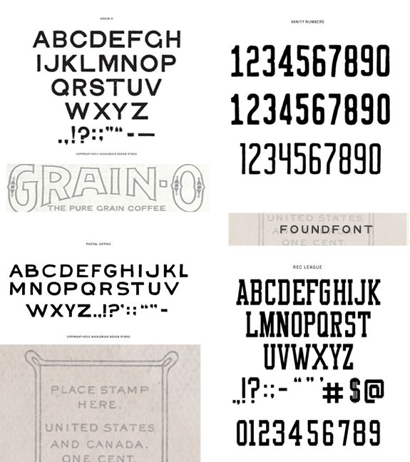 Besotted Blog: FOUNDFONT::GREAT RETRO FONTS