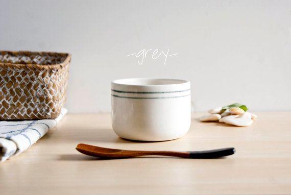 Ceramic tumbler x1 Ceramic Breakfast mug White by noemarin