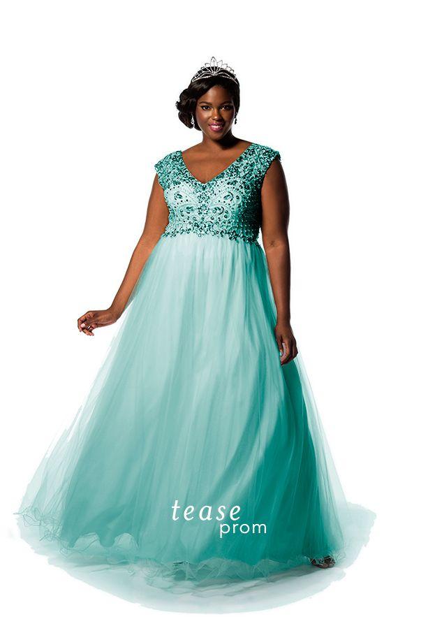 Aqua Blue Prom Dress - Ocodea.com