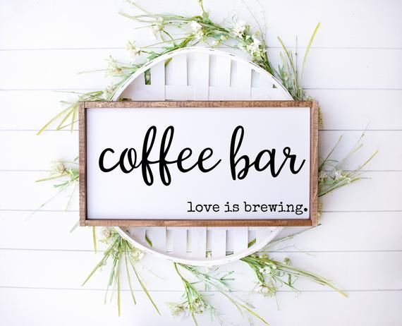 Download Coffee Bar SignLove Is BrewingCoffee Bar DecorCoffee ...