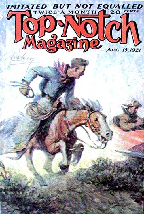 Top-Notch Magazine cover by Maxfield Parrish, August 15, 1921. Pulp cover art
