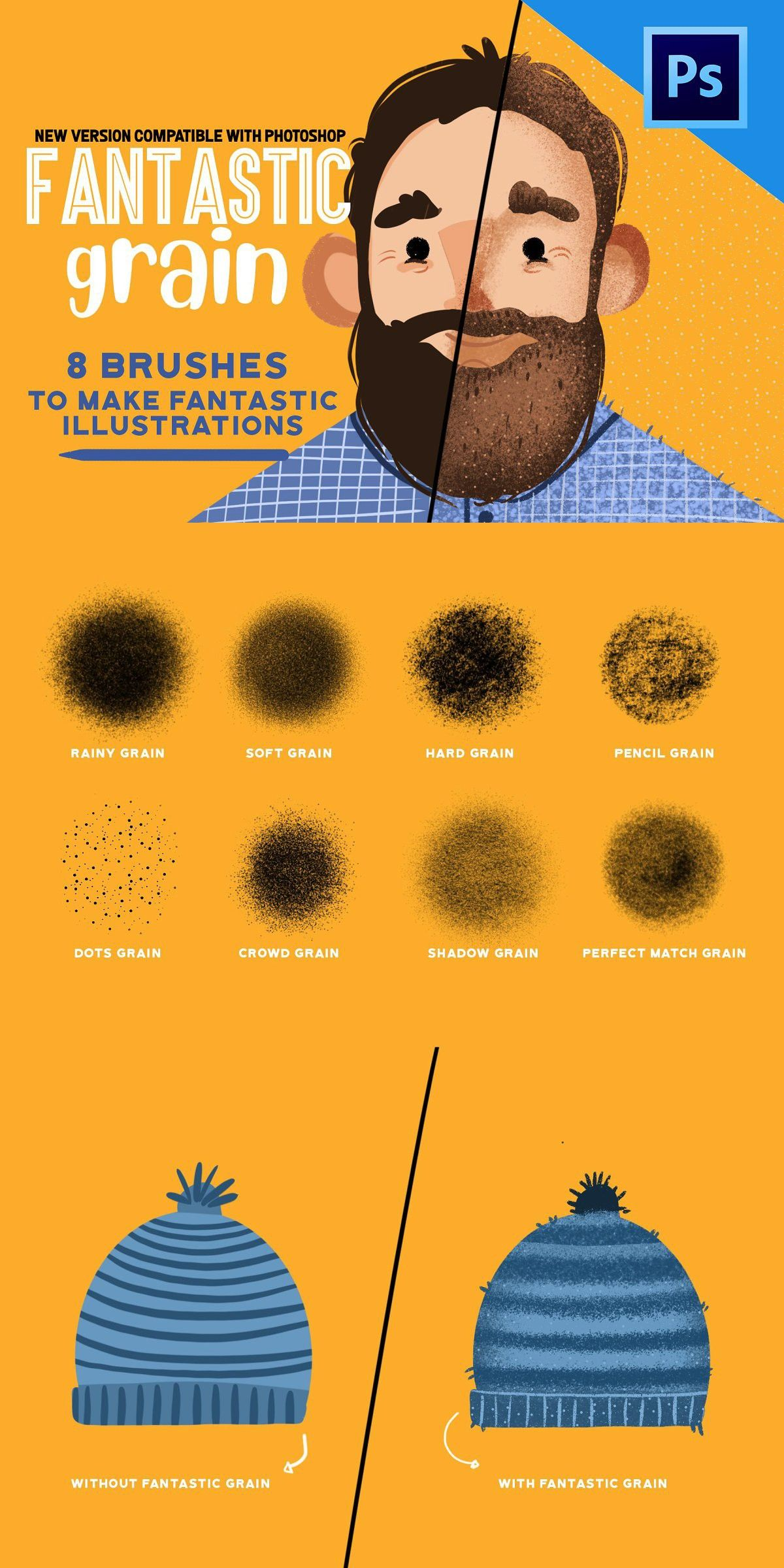 Fantastic Grain For Procreate Learning Graphic Design Digital Illustration Tutorial Graphic Design Tutorials