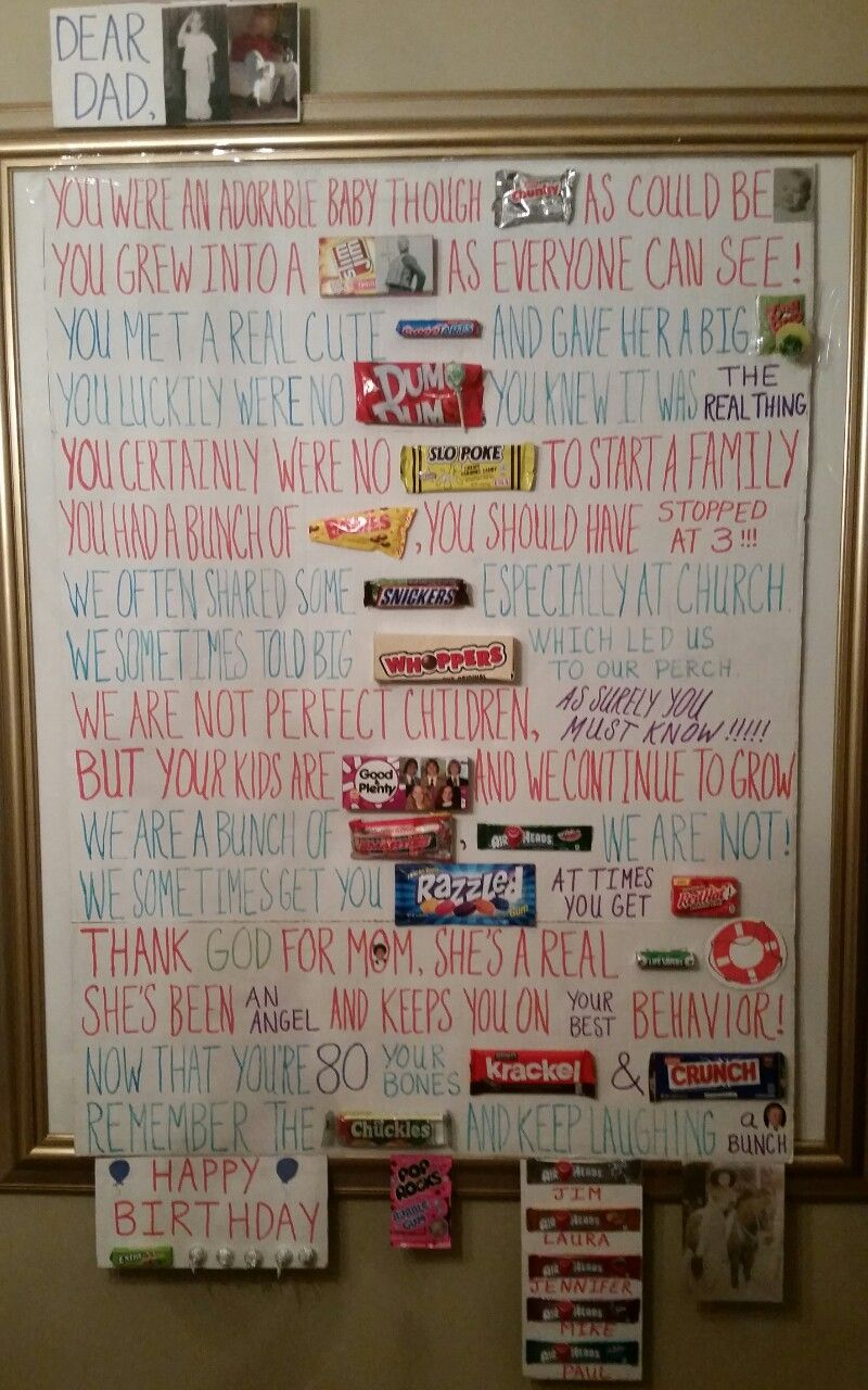 My Giant Birthday Card To My Dad He Loved It Dear Dad Cute Babies Birthday Cards