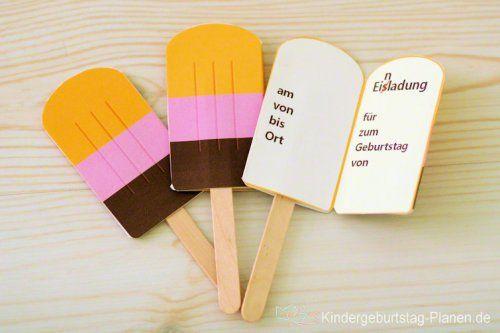 Eis Einladung EiscemePartys  Kindergeburtstag feiern