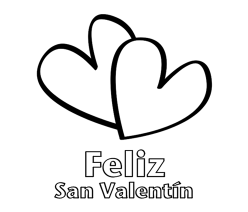 easy da de san valentn coloring sheet