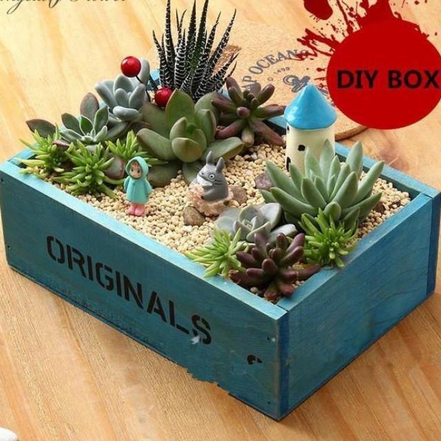 Bonsai Wooden Storage Box #woodenflowerboxes