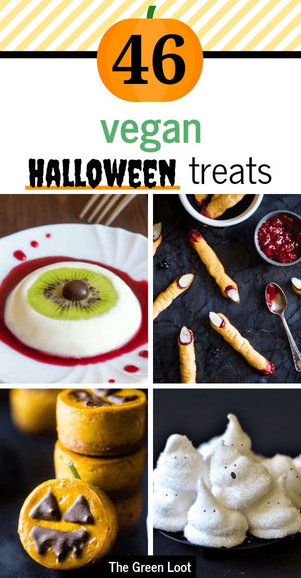 45 Freakishly Tasty Vegan Halloween Treats And Snacks Vegan Halloween Treat Vegan Halloween Vegan Halloween Food