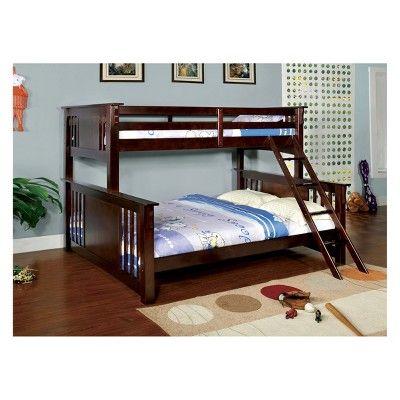 Nora Kids Triple Bunk Bed Twin Truffle Brown Sun Pine Queen Bunk Beds Bunk Beds Full Bunk Beds