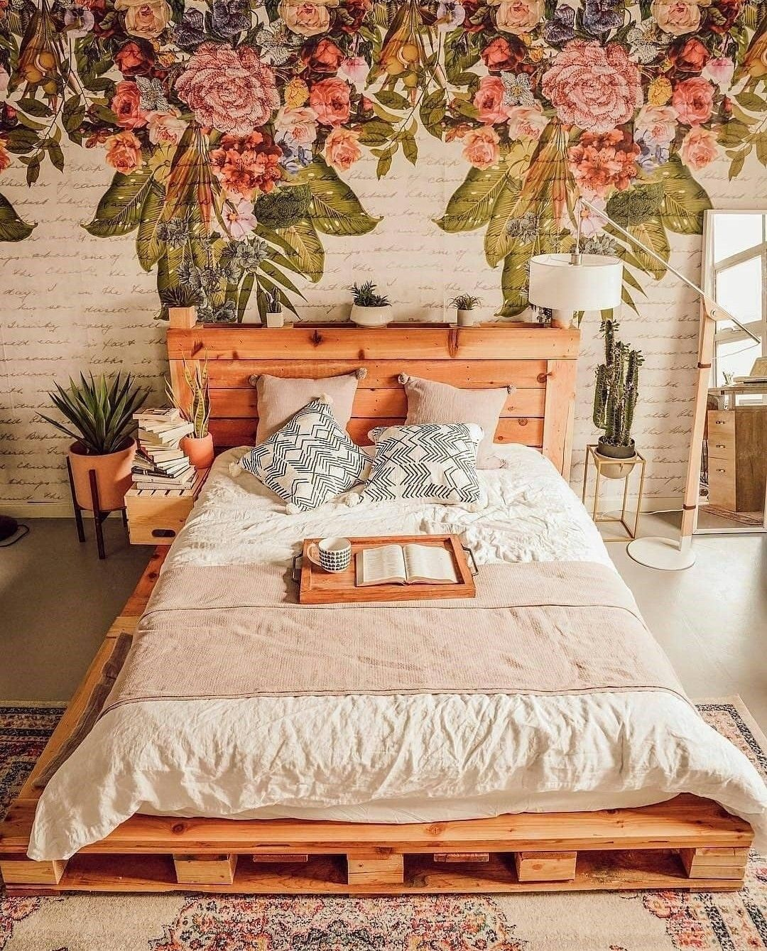 Wow Love This Bedroom Floral Mural Inspiration With Images
