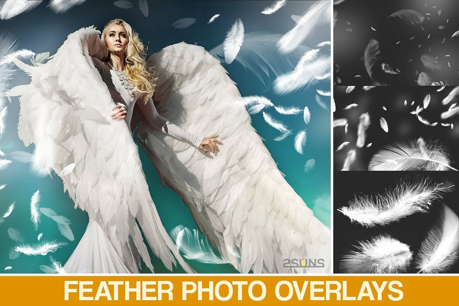 39 feather overlays angel white feather by