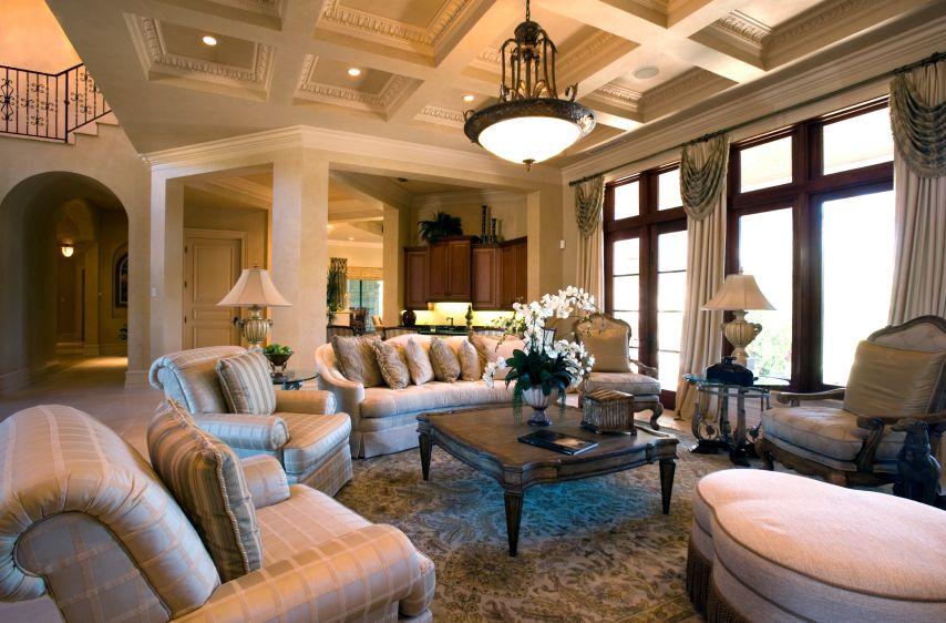 Elegant Living Room, Furnished Living Rooms