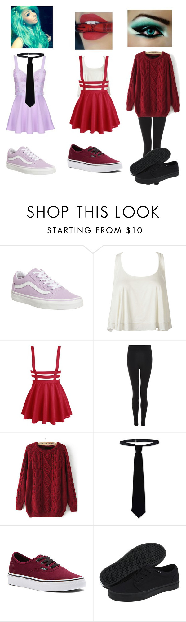 """""""Different Clothes...? Yeah. Same person...? Yeah"""" by maryberry111 ❤ liked on Polyvore featuring Vans, WithChic, New Look and RED Valentino"""