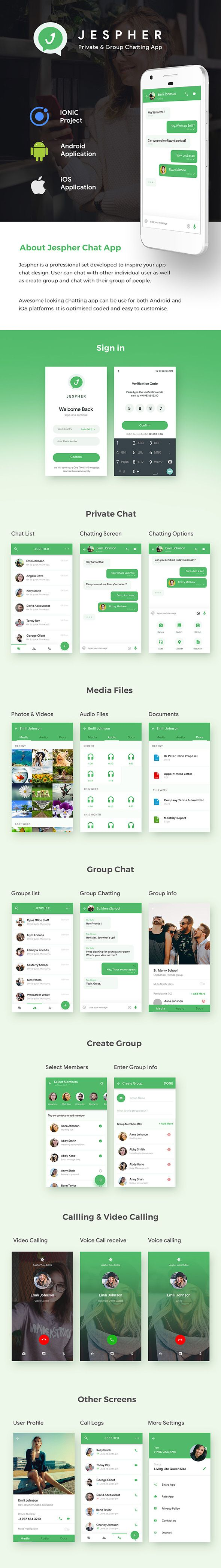 Chatting & Group Chatting Android + iOS App Template | HMTL + Css