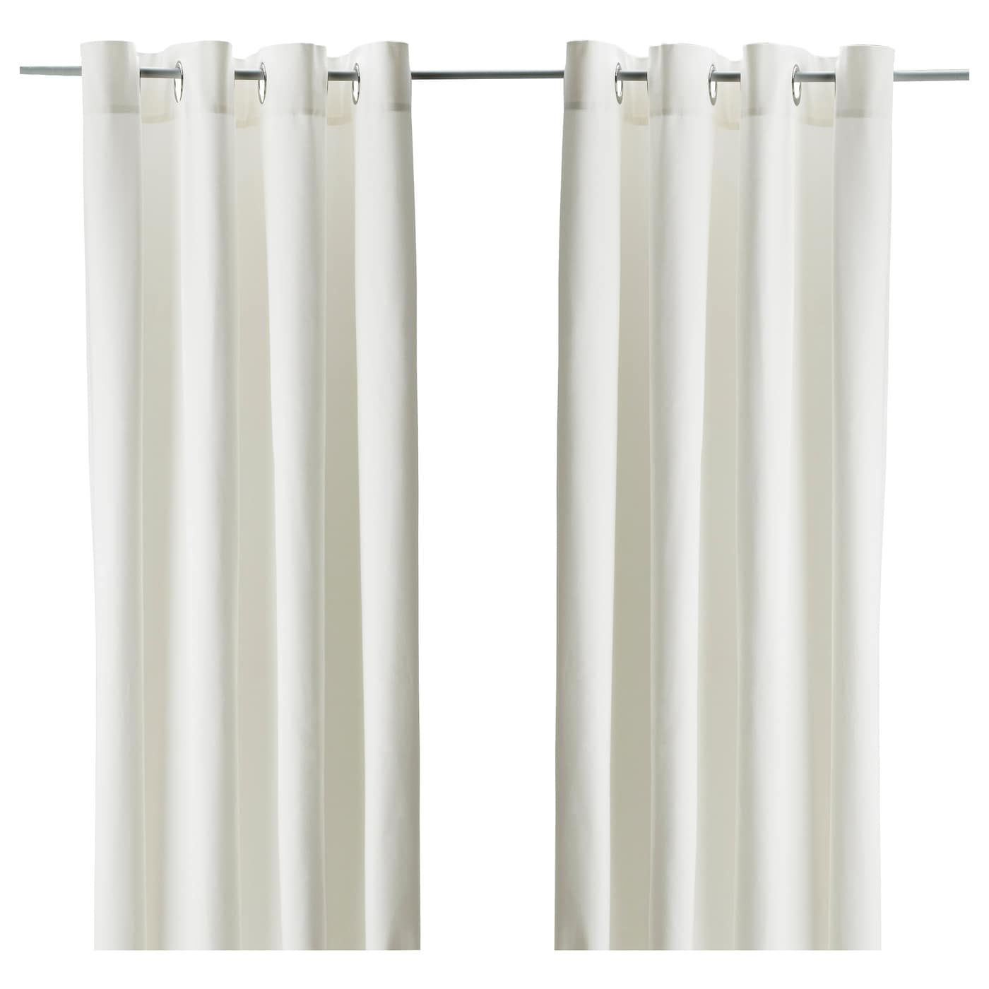 Merete Room Darkening Curtains 1 Pair Bleached White 57x98 Ikea Affordable Curtains Curtains With Blinds Ikea Curtains
