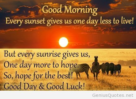 Good Morning Quote And Good Luck Wish Jpg 438 320 Cute Good
