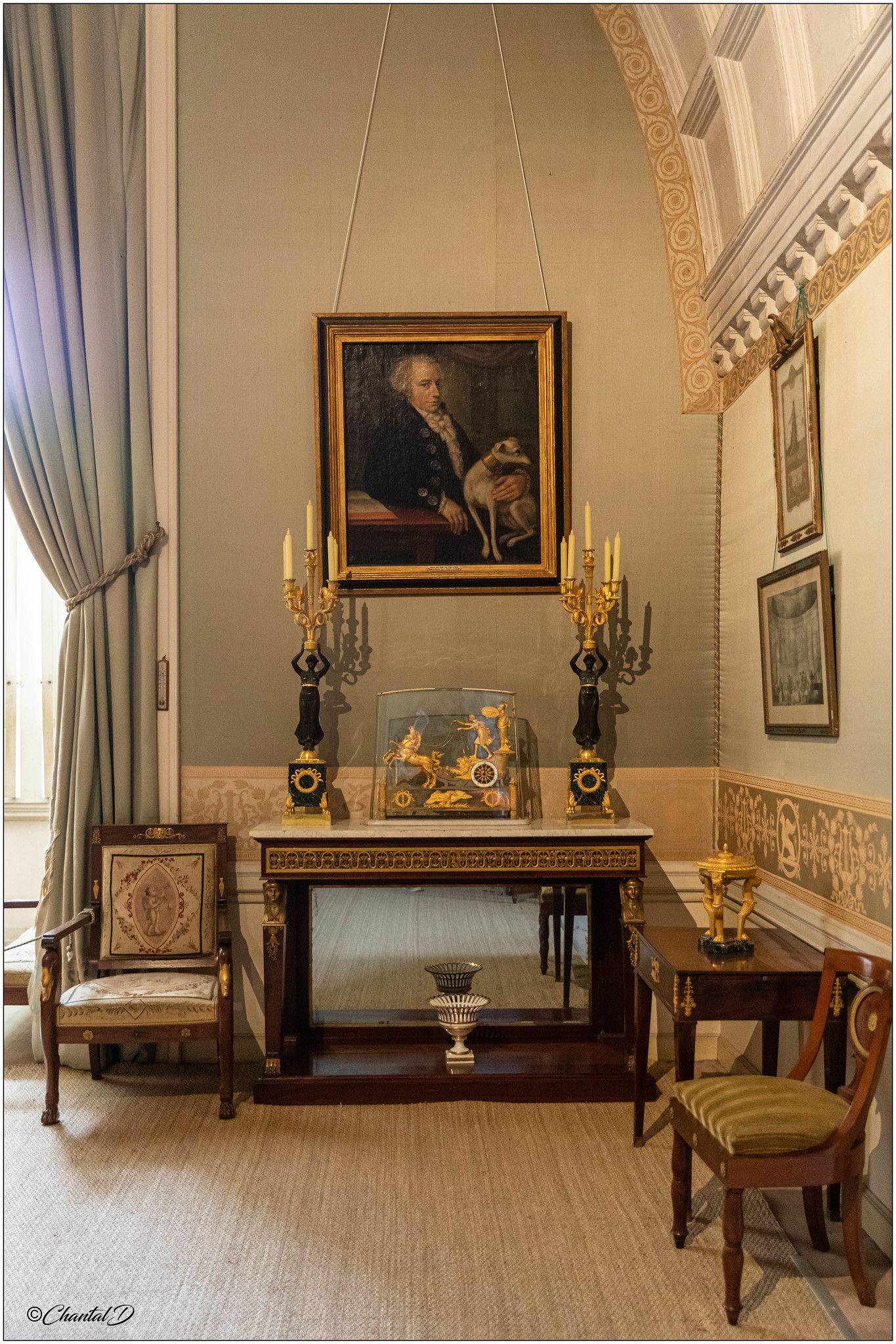 Chateau De Serrant La Chambre Empire Traditional Interior Design Historical Interior Classic Decor