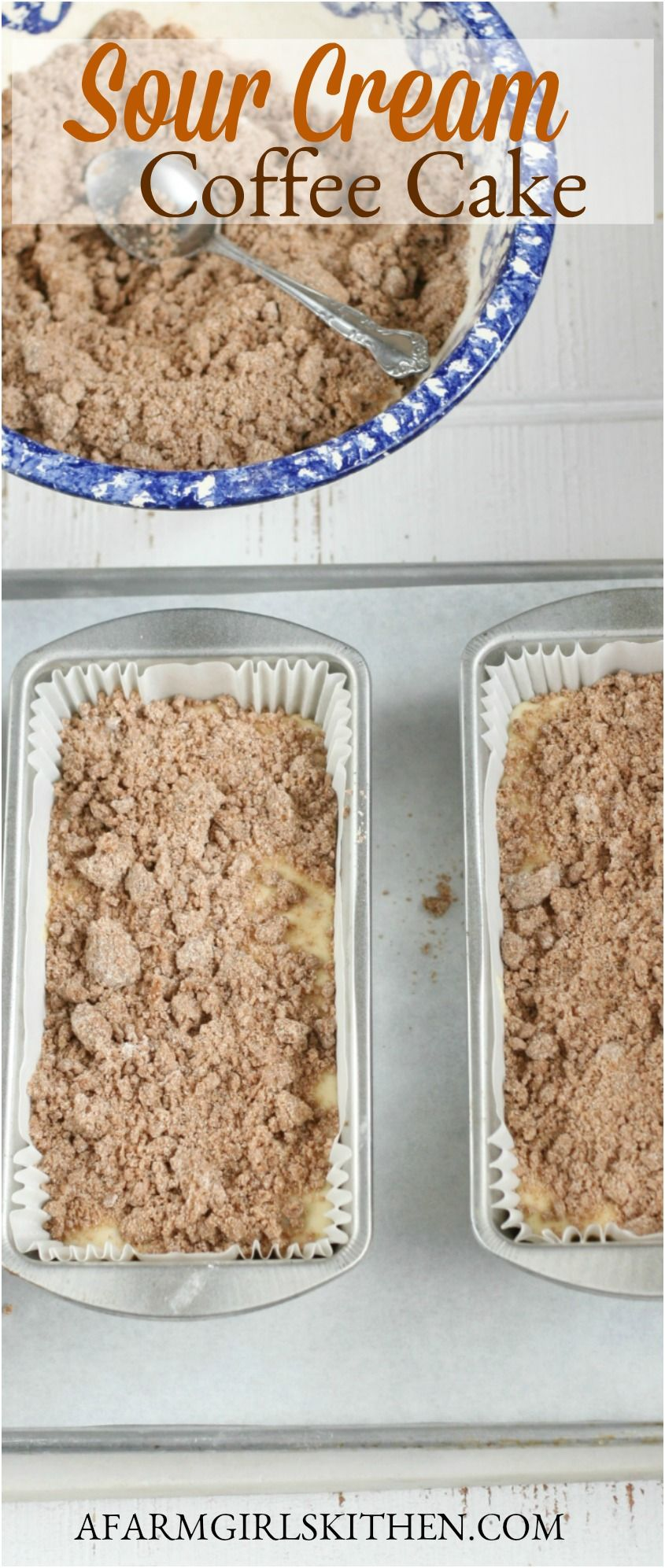 Sour Cream Coffee Cake with Crumb Topping (made with