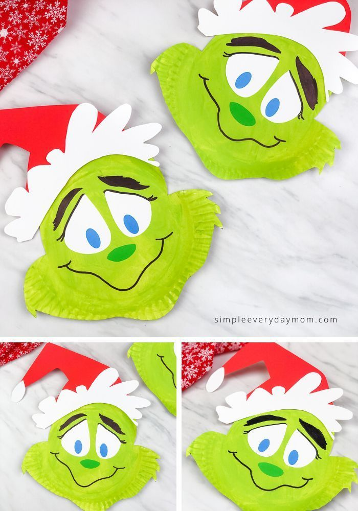Learn how easy it is to make this paper plate Grinch craft for kids It comes with a free printable Learn how easy it is to make this paper plate Grinch craft for kids It...