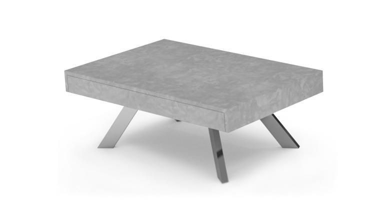 table basse effet b ton klow avec rangement coulissant prix table basse mobilier moss. Black Bedroom Furniture Sets. Home Design Ideas